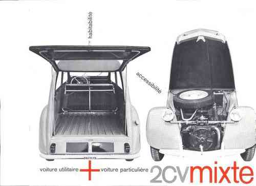 Original Flyer '2CV mixte'