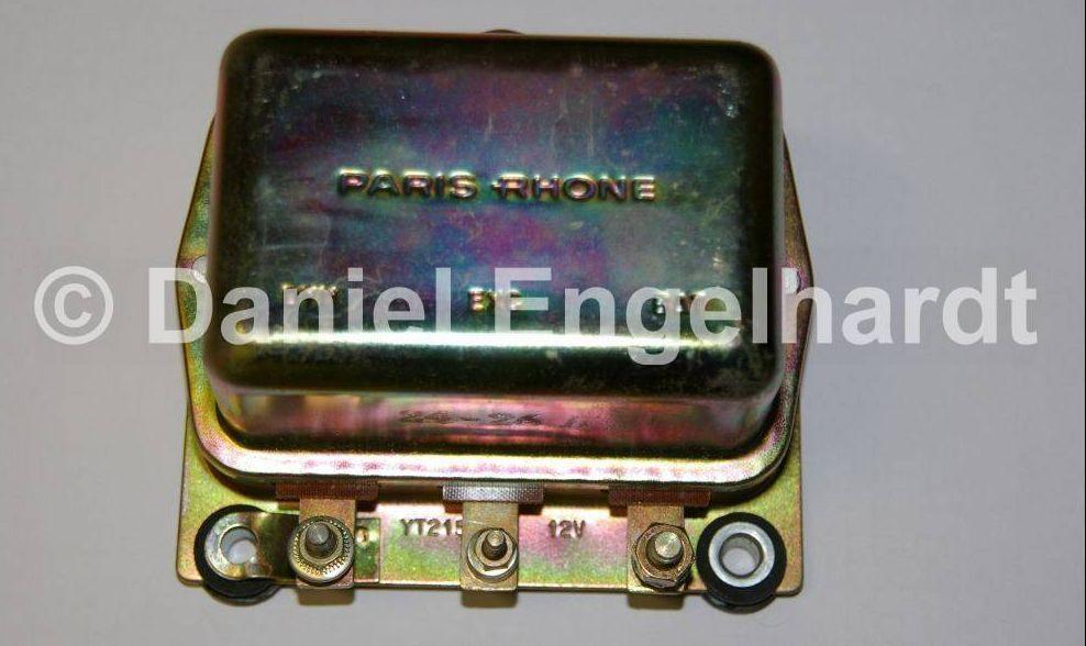 tension regulator paris rhone 12 volt for id ds 1966 with direct current alternator. Black Bedroom Furniture Sets. Home Design Ideas