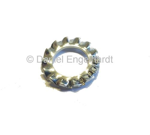 Serrated / lock washer M7 x 12, zinc passivated