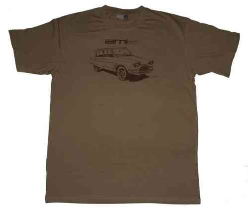 T shirt (men's M, L, XL) logo Ami 6, beige