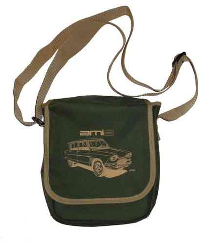 Shoulder bag small, moss green/beige, Citroen Ami 6