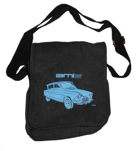 Shoulder bag medium, anthrazit/light blue, Citroen Ami 6