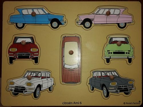 Wooden car puzzle Citroen Ami 6 saloon