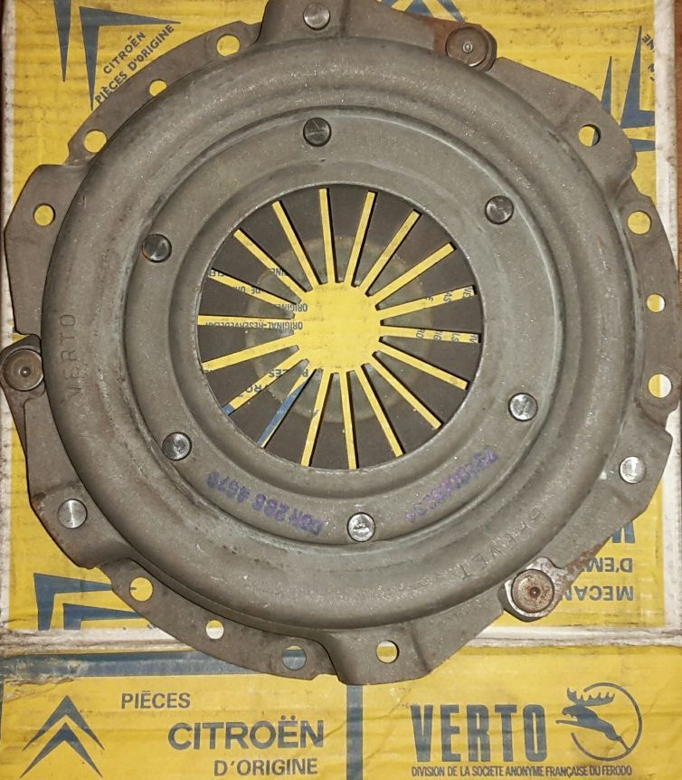 Pressure plate for clutch GS/A + Ami Super, genuine Verto part, new old  stock