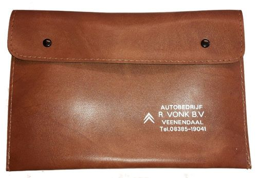 Tool bag / document bag light brown genuine Citroen dealer part (25 x 18 cm)