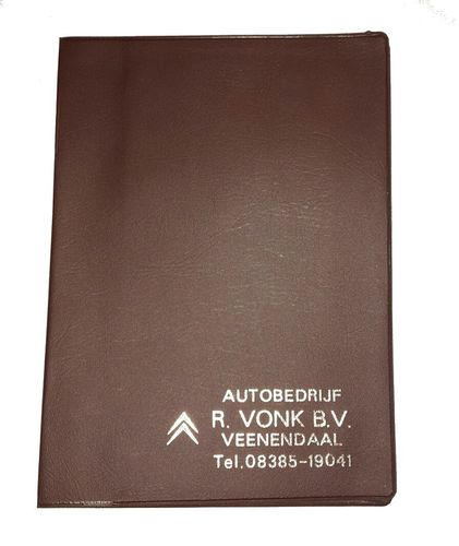 Document bag dark brown genuine Citroen dealer part (17 x 12,5 cm)