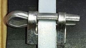 Lock 5 mm (fixation by screwing) for heating tubes etc